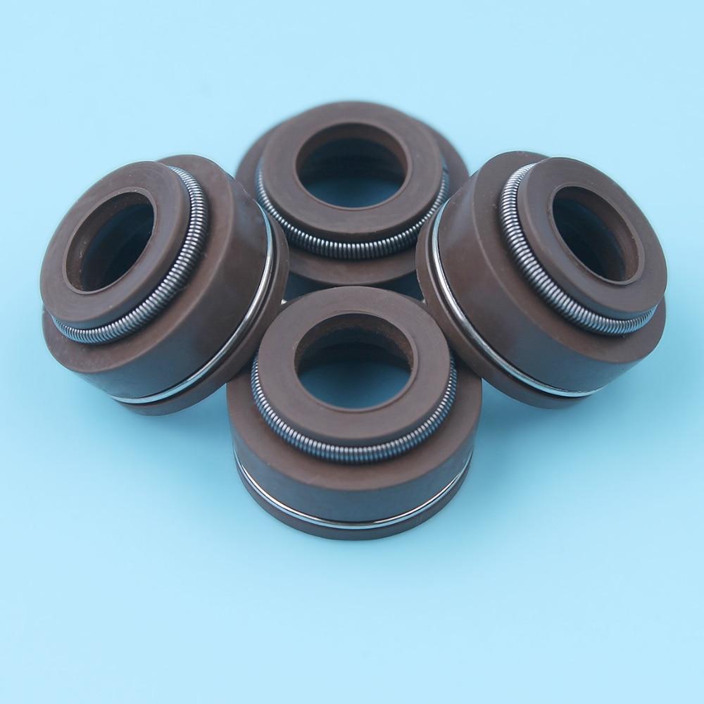 4pcs/lot Valve Stem Seal Kart Oil Seal For Honda GX340 GX390 GX240 GX270 GX 340 390 240 270 Gasoline Engine Motor Repalcement