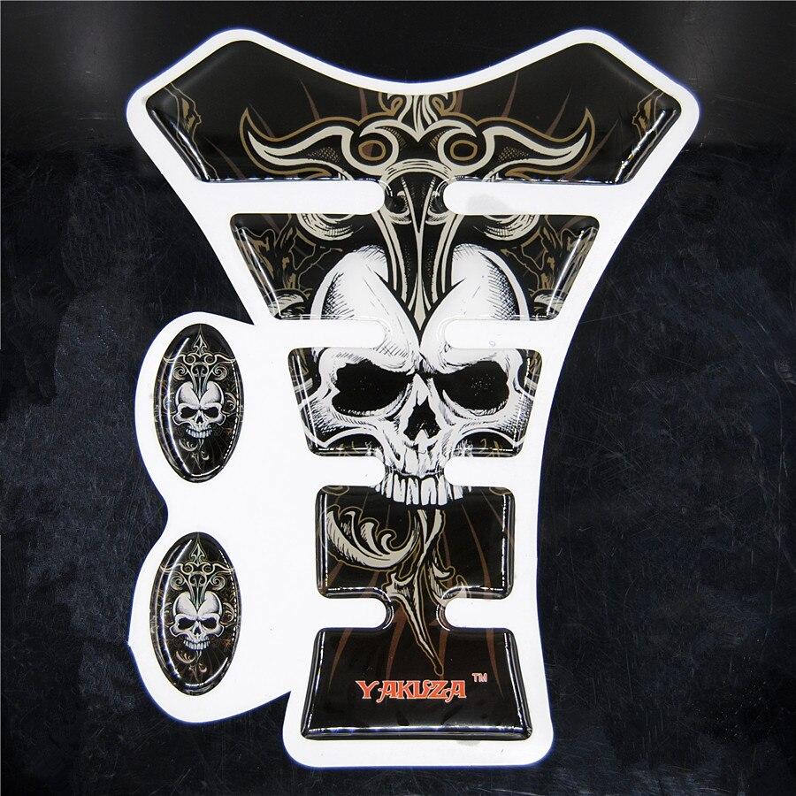Ordinary Mail Yakuza Skull Motorcycle Sticker Gas Tank Pad Protector Decal For Yama Hon Kawasa Suzu Harley Crystal Adhesive yakuza kiwami [ps4]