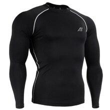 Männer Reine Farbe Basisschicht Strumpfhosen T-Shirt Fitness Compression Black White Long Sleeves Hemd und Übungen Jogger Für Männer
