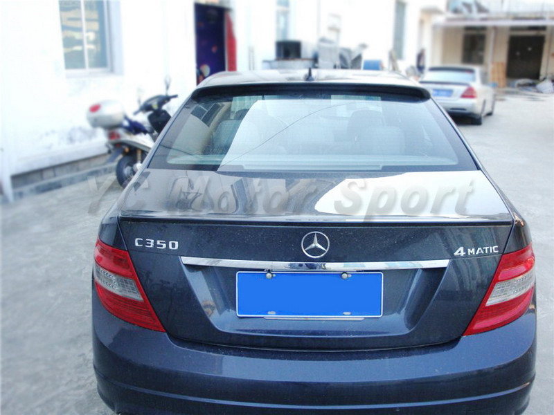 2008-2013 Mercedes Benz W204 C-Class Sedan Coupe AS Style Roof Spoiler CF (21).jpg