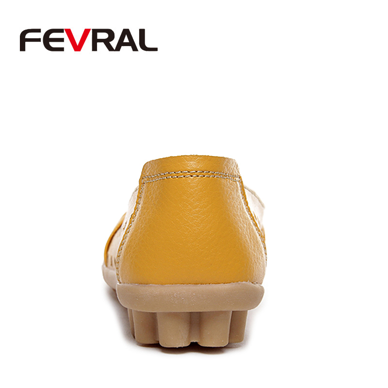 Image 3 - FEVRAL 2020 Spring And Summer Woman Oxford Shoes Ballerina Flats Shoes Woman Genuine Leather Shoes Moccasins Slip On Loafersshoes ballerina flatsshoes moccasinballerina flats -