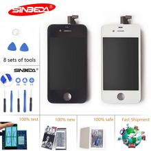Sinbeda 2pcs/lot LCD For iPhone 4 4s LCD Display Touch Screen Digitizer Assembly Replacement for iPhone 4 4s Screen Pantalla