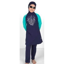 Modest children swimwear for Muslim islamic swimsuit for girls swimming suit with hijab and string