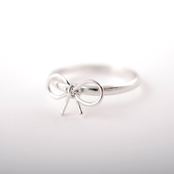 wholesale punk silver ring brief cutout bow ring irritably paragraph of finger ring