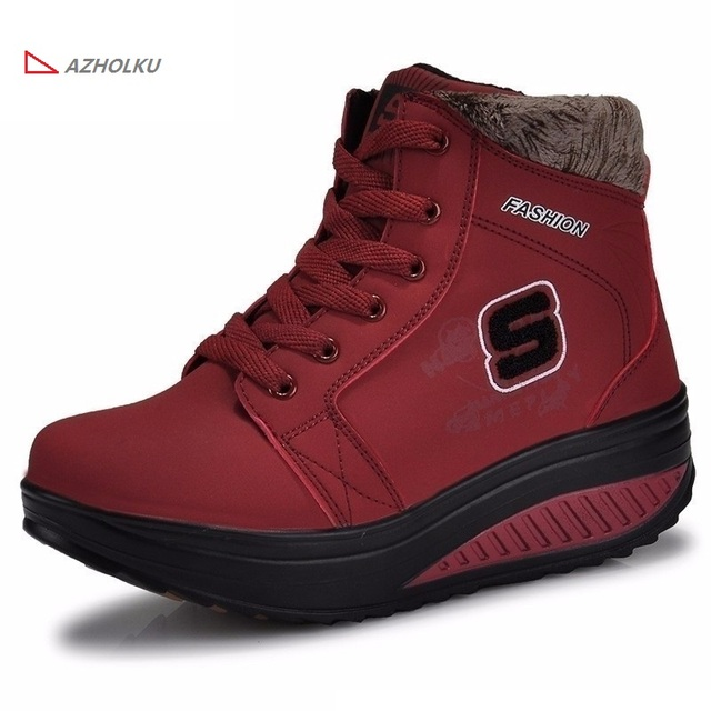 2016 new ladies winter casual snow boots waterproof women ankle boots female flat slip-resistant fashion winter shoes for woman