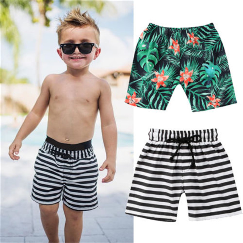 Hot 2018 Summer Toddler Kids Baby Boys Leaf Print Shorts Beach Short Briefs Sportwear Pants Kids Boys Summer Beachwear Swimwear