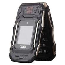 Touch Dual Screen Flip-telefon Energien-bank Lange Standby-Licht taschenlampe Große Russische Schlüssel Robuste Älteres Telefon Trans X10 VS X9 P280