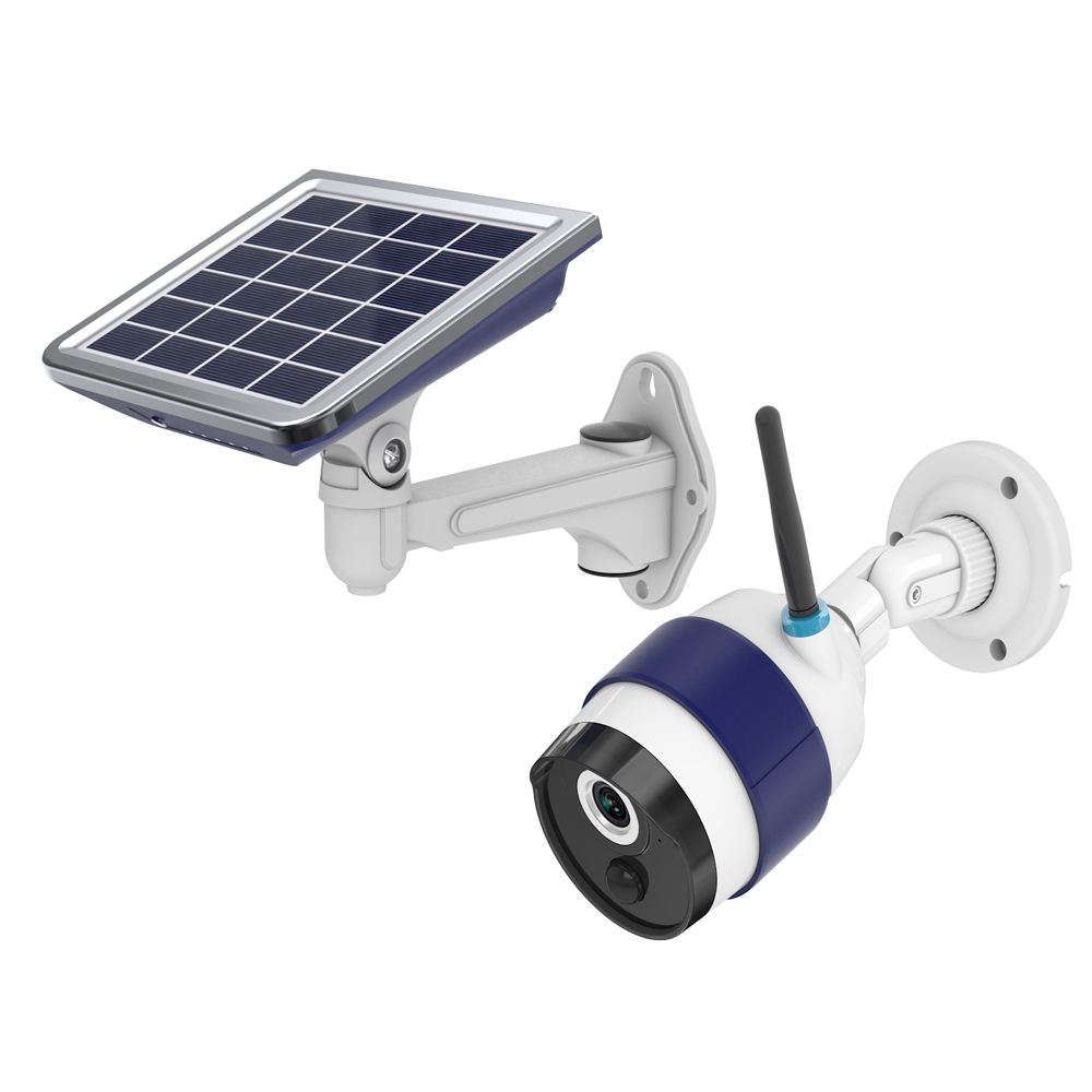 (1set)720P Solar Mobile WiFi PIR Camera with Infrared LED for Outdoor IP65 Waterproof Motion Detect Remotely Wake Up by Free APP