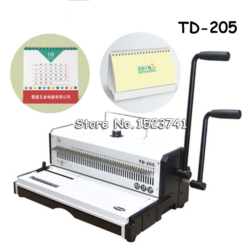 TD 205 Large Spiral Wire Binding Machine Metal 50 Square