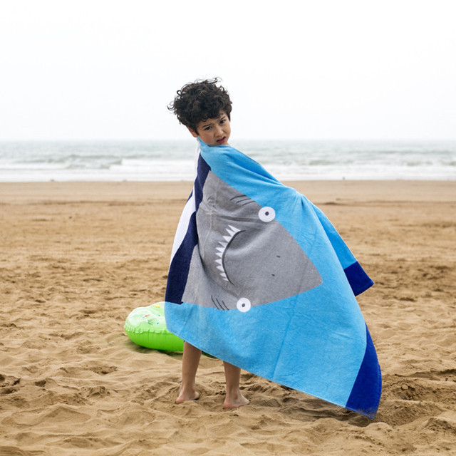 1PC 160X80cm European style 100% cotton towel no formaldehyde fast dry children large size adult cartoon beach towel CR-T5  3