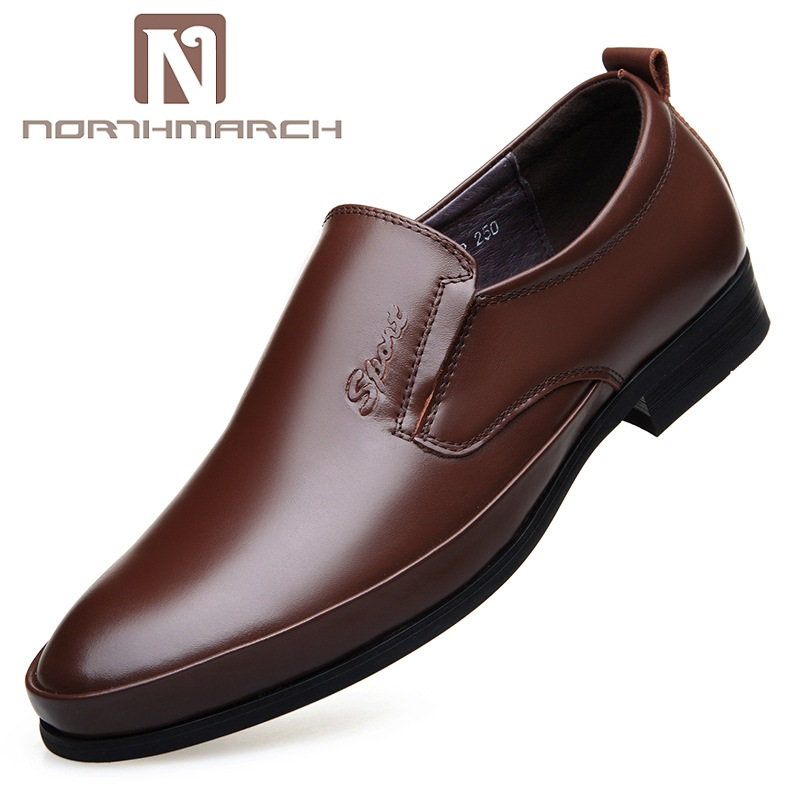 NORTHMARCH Spring/Autumn Leather Mens Dress Shoes Leisure Oxford Shoes For Men Slip-On Business Men Wedding Shoes MocasinesNORTHMARCH Spring/Autumn Leather Mens Dress Shoes Leisure Oxford Shoes For Men Slip-On Business Men Wedding Shoes Mocasines