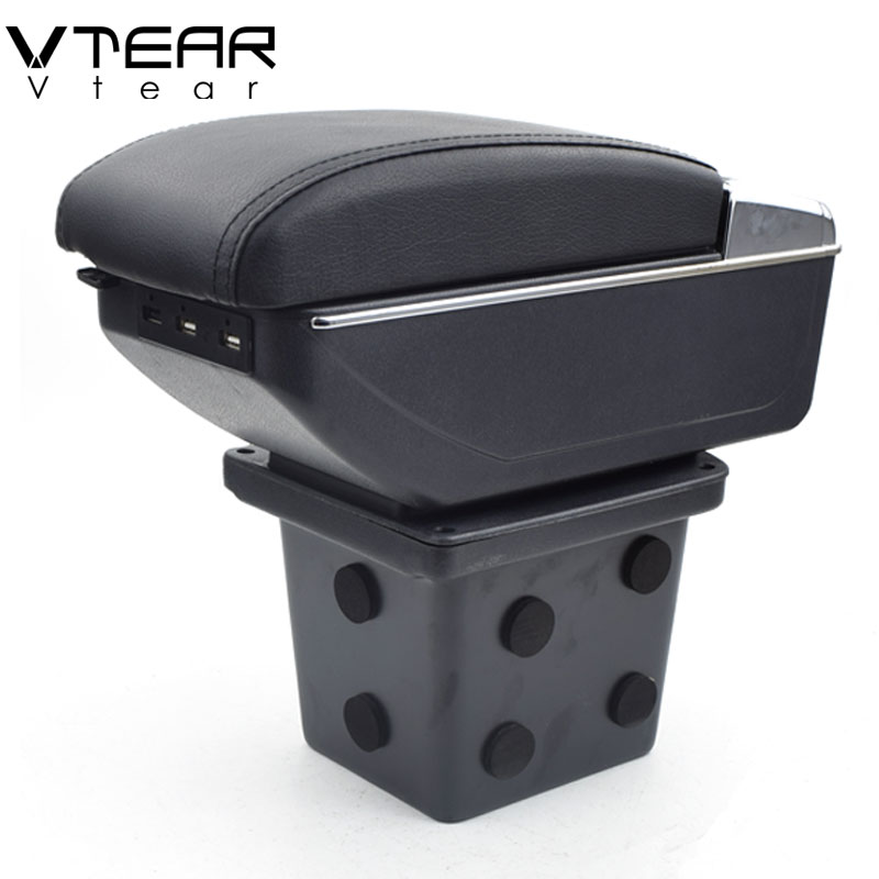 Vtear For Hyundai I30 armrest box USB Charging interface heighten central Store content box cup holder