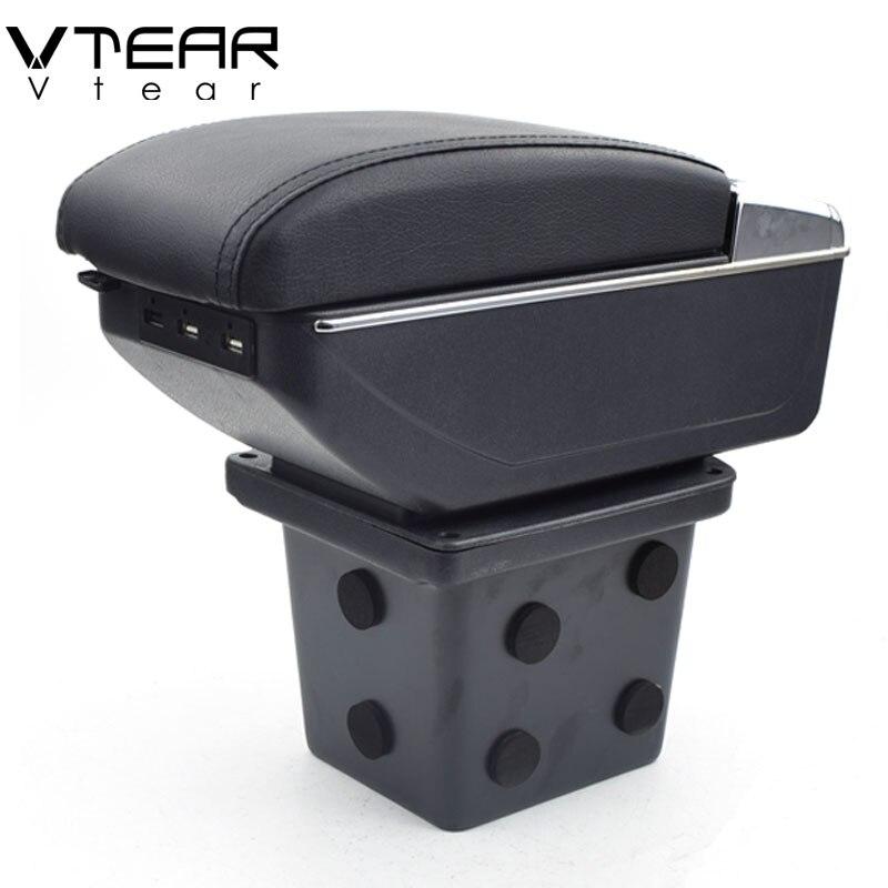Vtear Per Hyundai I30 bracciolo scatola di interfaccia di Ricarica USB intensificare centrale casella dei contenuti Negozio di supporto di tazza posacenere accessori parte