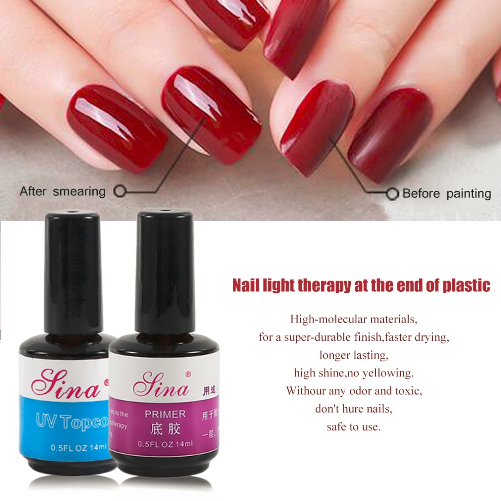 Fantastic 14ML UV No Sticky Topcoat Base Gel,No Wipe Topcoat Gel ...