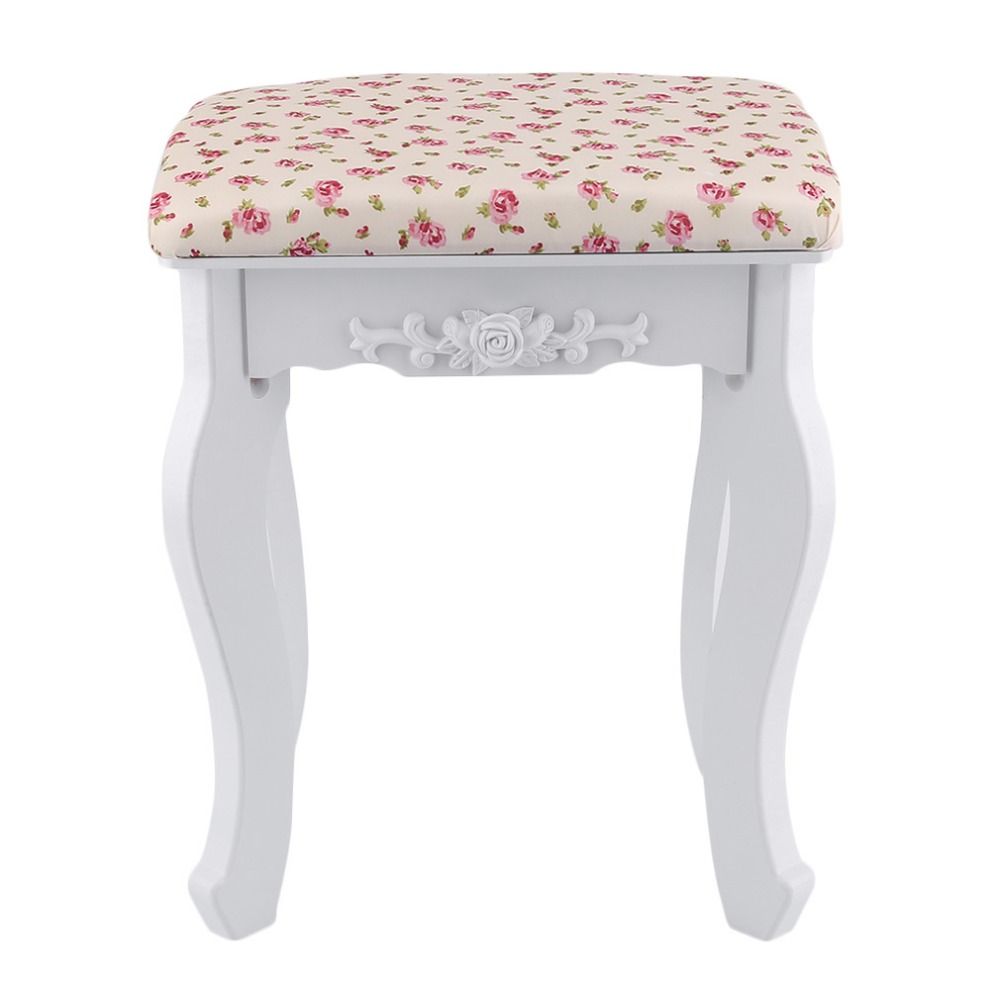 Floral Cushion Design Table Stool Padded Piano Chair Wood Stools Rest Cosmetics Seat Sofa Bench Simple Stool Home Furniture excellent quality simple modern stools fashion fabric stool home sofa ottomans solid wood fine workmanship chair furniture