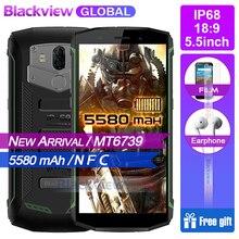 Hızlı kargo Blackview Bv5800 IP68 waterproot 5580 mAh 4G 18:9 Smartphone 2 GB 16 GB 13MP NFC Dokunmatik KIMLIK cep telefonu