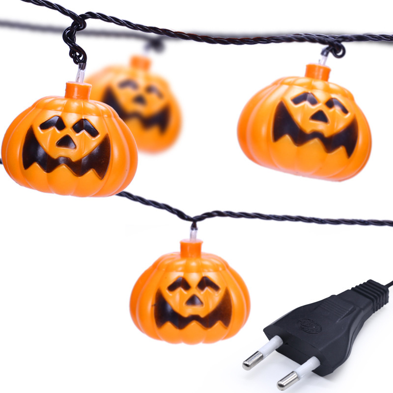 BLYN Halloween Pumpkin String Bulb 16.4ft 20 bulbs 32.8ft 38 Bulbs Yard Lamp Holiday Decoration Hang Lamp Rainproof Outdoor