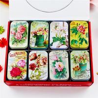 Macaron Cookies Box Candy Case Mac Cosmetics Organizer Vintage Style Tin Box For Jewelry Tea Coffee