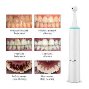 Image 4 - Çok fonksiyonlu diş elektrikli diş lehçe temizleyici profesyonel leke plak sökücü Sonic titreşim diş beyazlatma silgi kafa