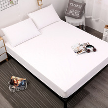 Solid Color Matress Cover 100% Waterproof Mattress Protector Bed Bug Proof Dust Mite Pad For