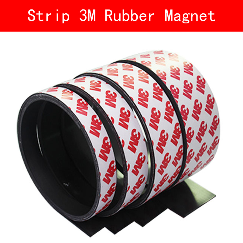 2 Meters self Adhesive Flexible Magnetic Strip 3M Rubber Magnet Tape width 10mm 12mm 15mm 40mm thickness 2mm 5pcs magnet sheet a4 thickness 1mm rubber magnetic strip tape flexible magnet diy craft tape