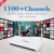 Italia Alemania REINO UNIDO Árabe Android Smart TV Caja Quad Core 1100 + Live Canales de IPTV 1080 P HD Sky Sports Canal Plus Francés Set Top caja