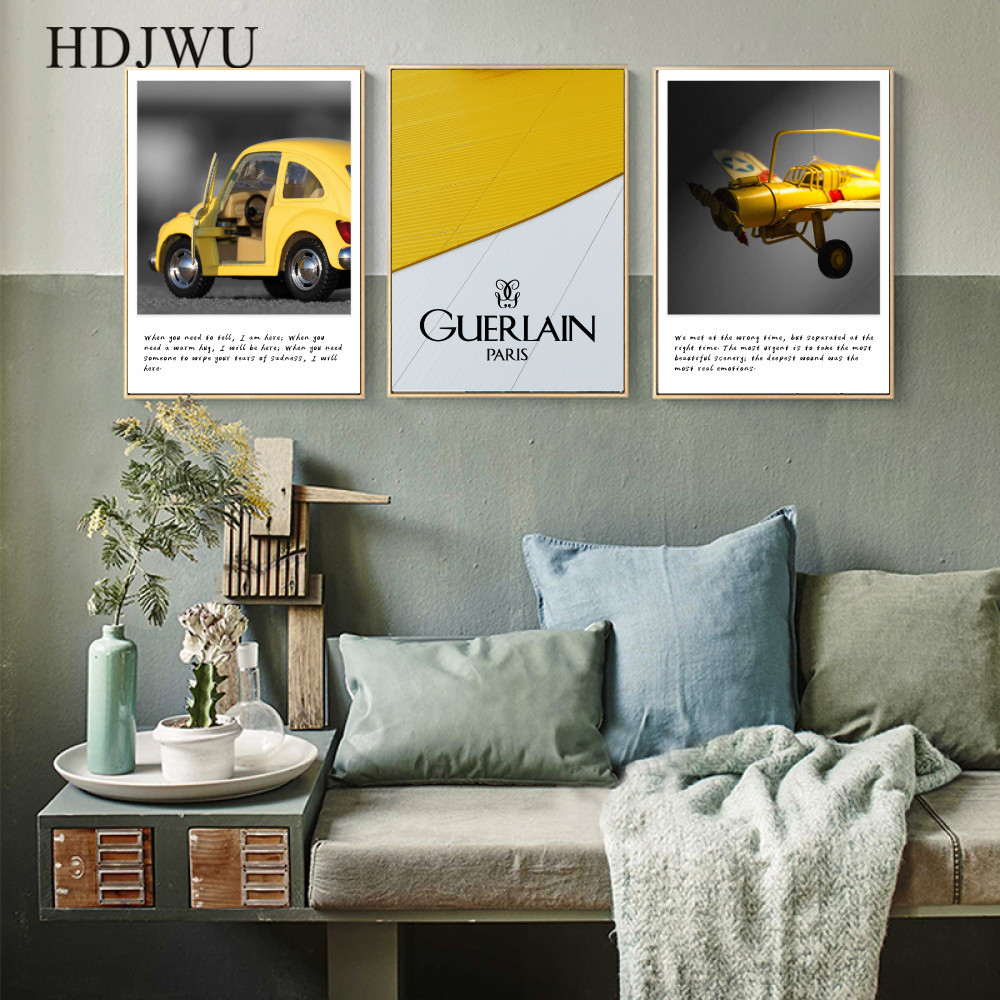 Simple Nordic Art Home Wall Picture Canvas Painting  Poster for Living Room AJ00239