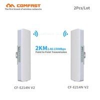 2pcs COMFAST Outdoor Wifi cpe Brigde 2km Siganl amplifier wifi repeater 2.4Ghz 150Mbps 12dBi High Gain waterproof Wifi antenna