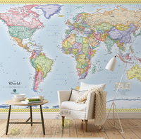 Custom Papel DE Parede Infantil The World Map For The Living Room Bedroom Children S Room