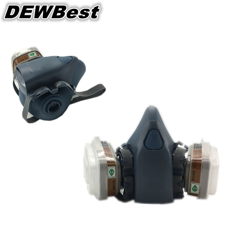 Free shipping DEWBest Top Quality filter face masks ,half mask Gas Mask /respiratory protection industrial face gas masks