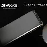 DEVILCASE Curved Glass Protector For SAMSUNG Galaxy S8 S8 Plus Screen Protector HD Tempered Glass Film