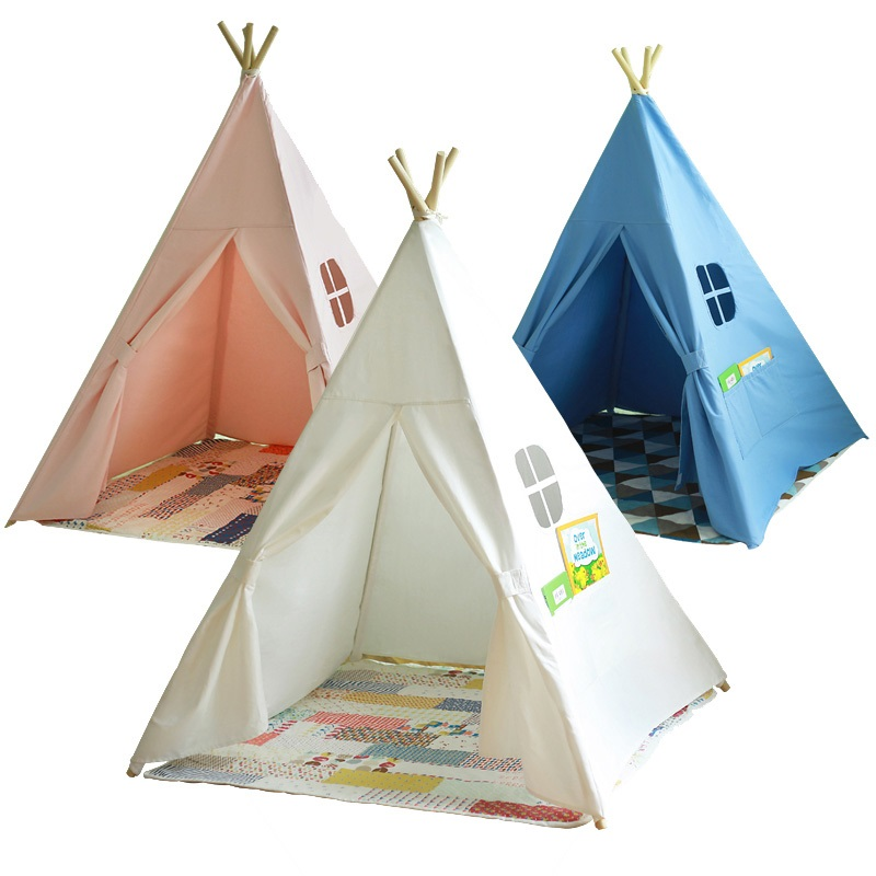 Portable Children Cotton Canvas Teepee Kids Play Tents Outdoor Garden Folding Toy Tent Castle Playhouse for  sc 1 st  AliExpress.com & Online Get Cheap Kids Play Tent Teepee -Aliexpress.com | Alibaba Group