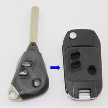 3 кнопки Замена модифицированный Флип складной пульт дистанционного ключа чехол для Subaru Legacy Outback с DAT17 Uncut Blade Fob чехол для ключей