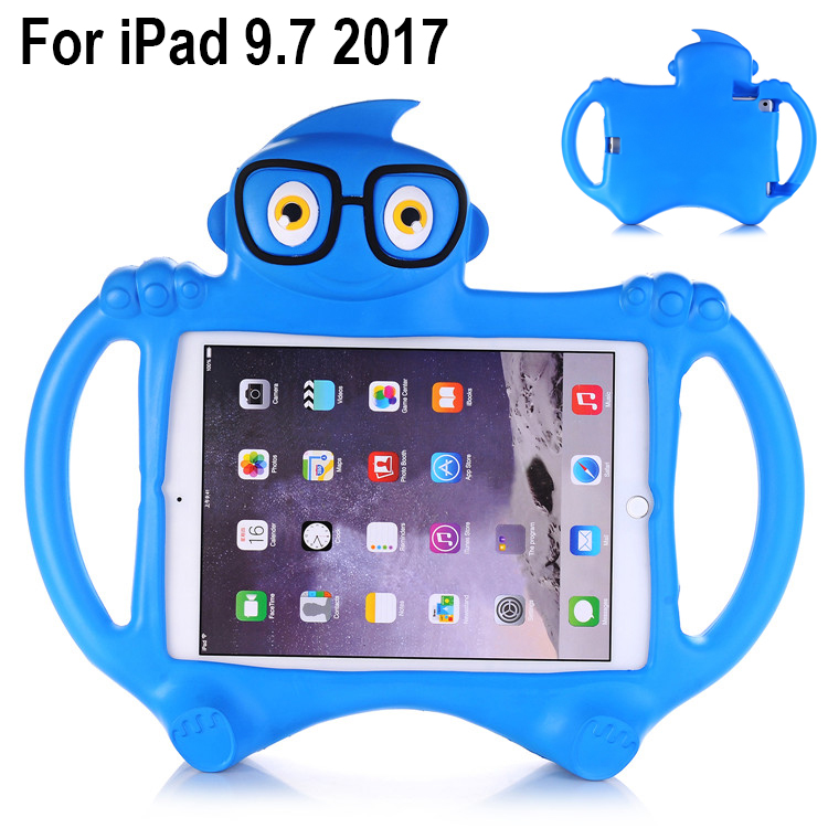 EVA Foam Shockproof washable Case Cover for iPad 9.7 2017 model A1822 A1823 Kids Children Lovely Cartoon Tablet Protective skin eva foam shockproof washable case cover for amazon kindle fire hd8 hd 8 2017 2016 kids children cartoon tablets protective skin
