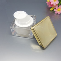 8pcs/Lot 30g White Face Cream Jars Pot Travel Plastic Empty Cosmetic Containers 30ml Cosmetic Sample Containers
