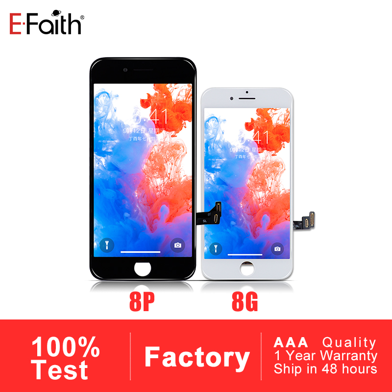 5 PCS AAA LCD Display Touch Screen Digitizer for iPhone 8 8 Plus LCD With Free