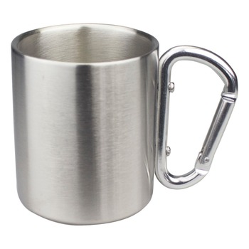 200ml,250ml,300ml Isolating Travel Mug Double Wall Stainless Steel Outdoor Children Cup Carabiner Hook Handle Heat Resistance