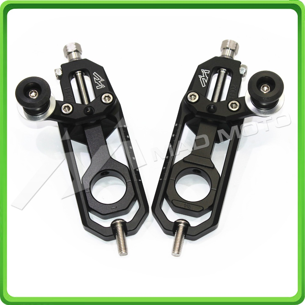 Motorcycle Chain Tensioner Adjuster with spool fit for Yamaha R1 YZF-R1 2007 2008 2009 2010 2011 2012 2013 2014 black color aftermarket free shipping motorcycle parts silver chain guard for yamaha 2006 2007 2008 2009 yzf r6 yzfr6 yzf r6