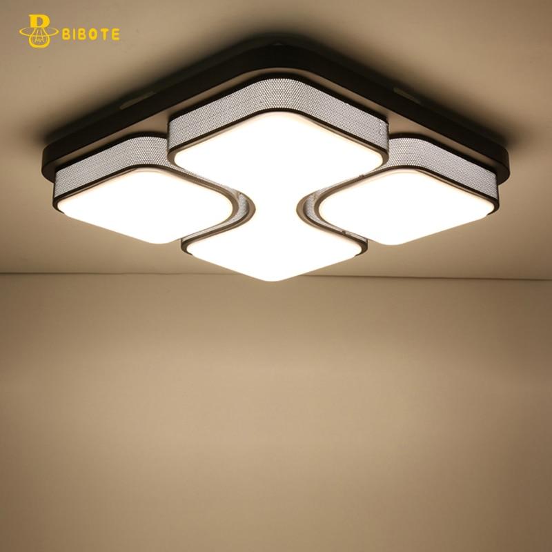 Black/White Modern Led Ceiling Lights For Living Room Bedroom 95-265V Indoor lighting Ceiling Lamp Fixture luminaria teto