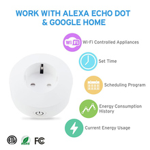 WIFI Wireless Remote Socket Smart Home Timer EU Plug Voice Control EU Home Fire Retardant PC Smart Power Socket EU Plug недорого
