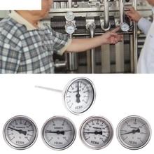 Stainless Steel 304 bi-metallic Thermometer 0-50~300 degrees, Probe length L=100, 1/4