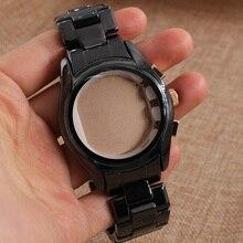Ремешок для часов черный керамический ремешок 22 мм прочные связи часы с бриллиантами общее группы AR1410 человек часы чехол