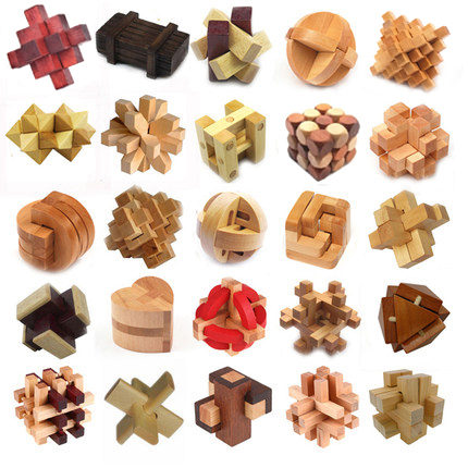 Classic IQ 3D Wooden Puzzle Mind Brain Teaser Interlocking Burr Puzzles Game Toys for Adults Children Kids brain games for clever kids puzzles to exercise your mind