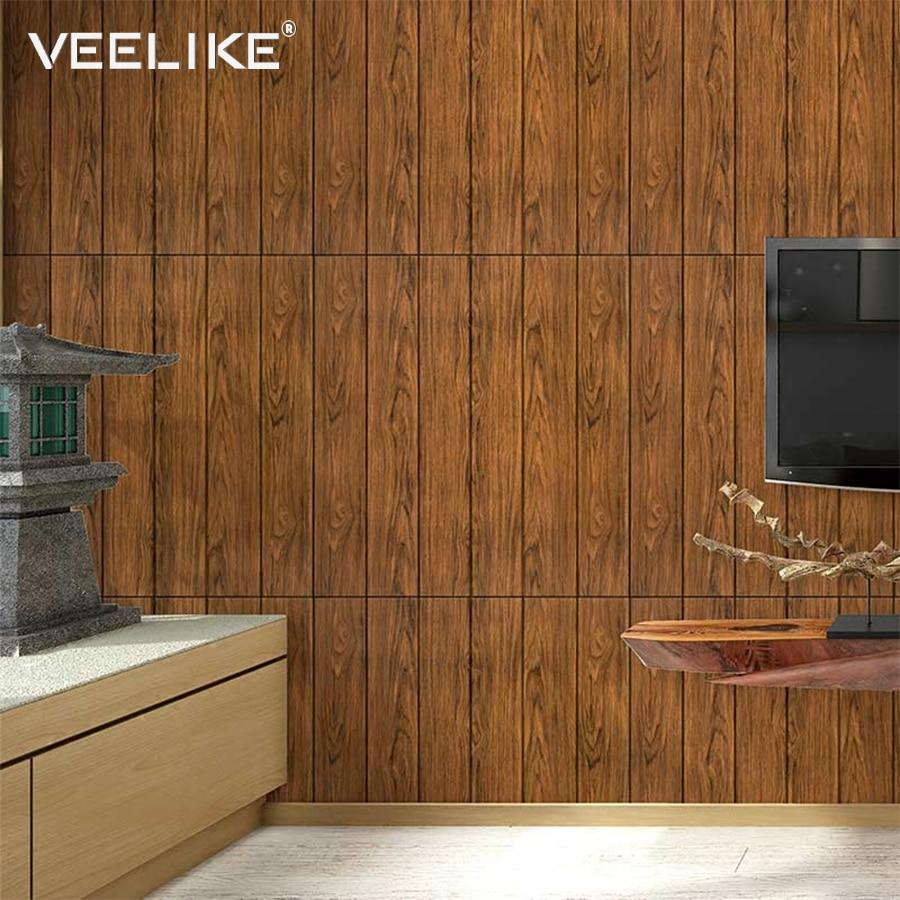 3d Wallpaper For Bedroom Price Diy 3d Wooden Wall Panel Stickers Kids Room Decor