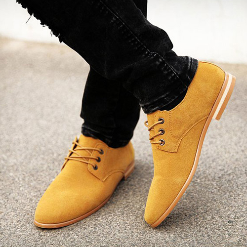Yellow Shoes Men Outfit