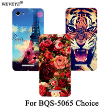 Фотография Cartoon printed Luxury Tiger Owl Rose Eiffel Towers patterns painted Cover Case For BQ BQS-5065 Choice Protective Back Cover