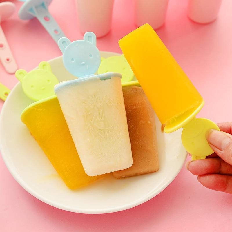 Popsicle Ice Cream Mold Anti Skid Bear Handle Dessert