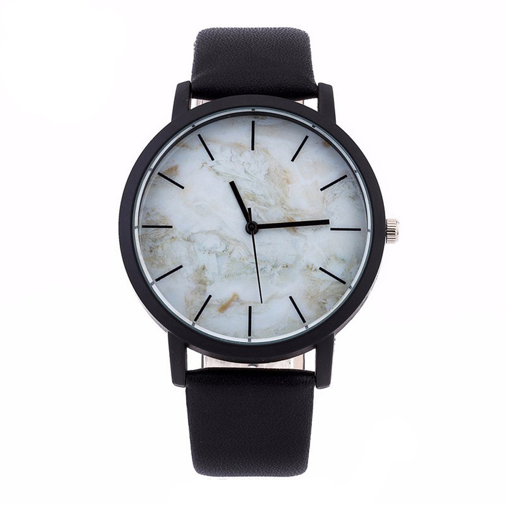 Marble Style Leather Quartz Watches Women Mens Watch Luxury Stainless Steel Military Sport Dial Wrist Watch Relogio Masculino pu leather strap wrist watches for men luxury stainless steel dial quartz watch mens sports business watch relogio masculino lh
