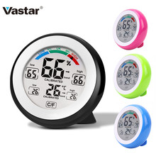 Vastar 0-50C LCD Digital Thermometer Hygrometer 32-122F Temperature Gauge Humidity Meter Touch Key with Backlight(China)