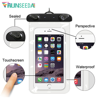 Runseeda 6 Inch Cartoon Swimming Bag Cute Waterproof Mobile Phone Carry Case New Sealed Pouch For Iphone Huawei Xiaomi Cellphone 7